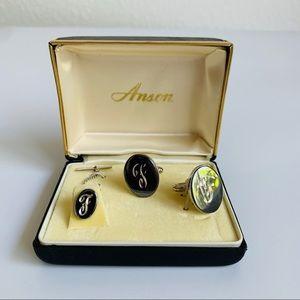 Vintage Anson Cuff Links & Tie Tack
